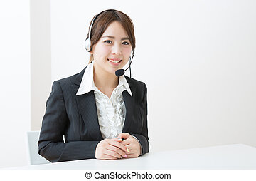 Operator - young female customer service operator