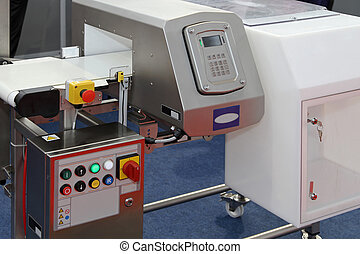 Food metal detector - Metal detector at production line in...
