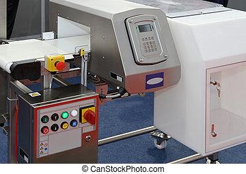 Food metal detector - Metal detector at production line in...