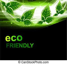 abstract bright Vector natural eco green lives wave