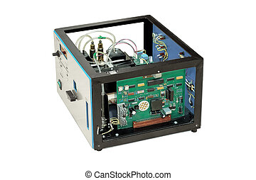Disassembled electronics. - Laboratory equipment, dismantled...