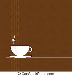 Coffee background.Restaurant business card