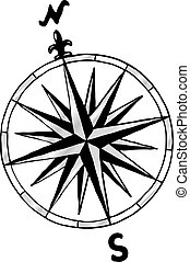 compass rose - vector illustration of a compass rose