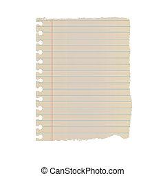 Old Vintage Note Paper