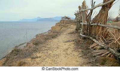 Footpath along the coast. Bay Kapsel, Sudak, Crimea