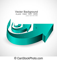 abstract shiny 3d arrows business vector