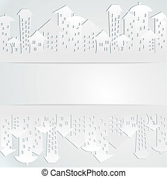Abstract background with buildings