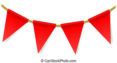 Triangular flags on a rope