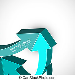 abstract blue colorful 3d arrow Vector design