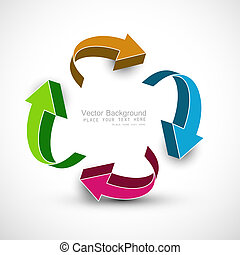 abstract recycle colorful arrows business design vector