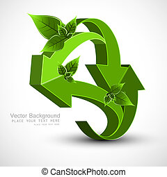 3d green lives colorful arrow vector whit background