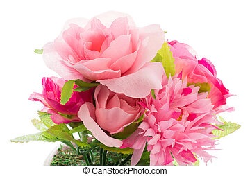 artificial roses - This is a photo of artificial roses.