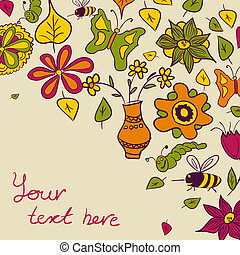 Floral background, nature theme
