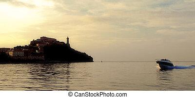 portofino yachts - a boat cruising in portofino italy in...