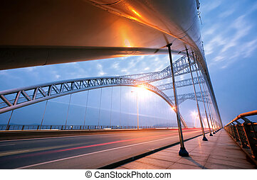 Bridge Night - Bridge at night, brightly lit