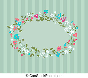 Floral greeting card - Vector background with wild flowers...
