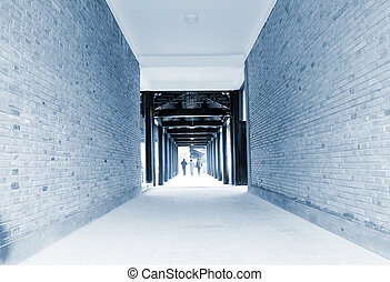 Corridors, wide-angle shots, there is sense of perspective.