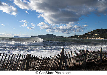 Peninsula of Gien in french riviera, France - Landscape of...