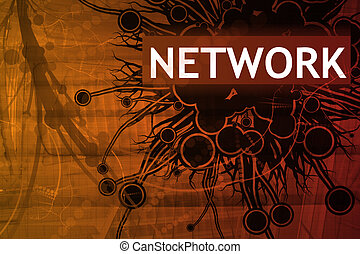 Network Security Alert Abstract Background in Red