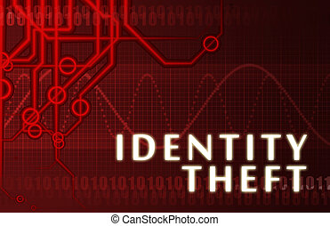 Identity Theft Concept Abstract Background on Red