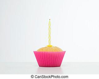 Surpresa, aniversário, Cupcake