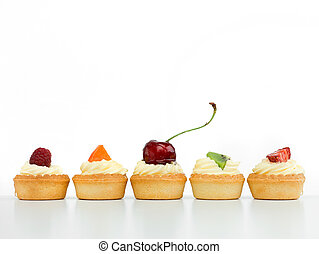tart arranged in line - delicious tart arranged in line with...