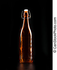 transparent orange bottle - orange transparent bottle on...