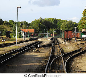 NARROW GAUGE RAILROAD YARD - railroad yard in europe-narrow...