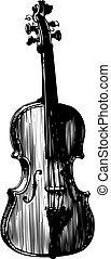 Violin silhouette