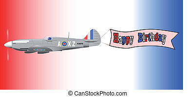 Birthday Airplane Banner - A World War 2 fighter plane...