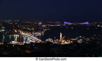 Istanbul City - Istanbul city u200Bu200Bview at the night,...