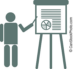 Flipchart Presentation - Vector illustration of a...