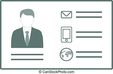 Personal Credentials - Vector illustration of personal...