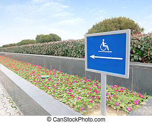 using wheelchair rampBarrier-free access
