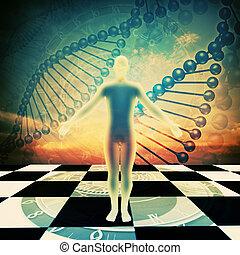 tiempo, Up!, Extracto, ambiental, fondos, humano, ADN