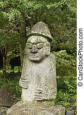 coreano, fertilidad, estatua