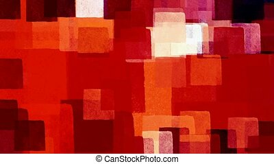 red squares pattern - Grungy red squares pattern Artistic...