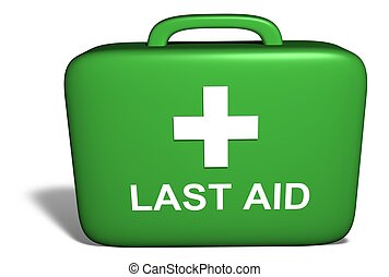 Last aid kit - Illustration of a medical kit with the words...