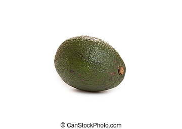 avocado - green avocado on white background