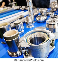 Spare parts of machinery in the industry