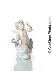 boy cupid statuette - figurine, sculpture, statue, little,...