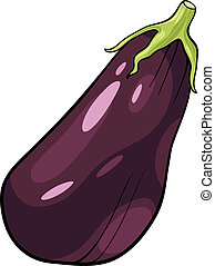eggplant vegetable cartoon illustration