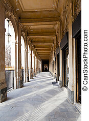 arcade of Palais-Royal Palace in Paris