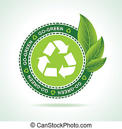 Eco-friendly recycle icon design