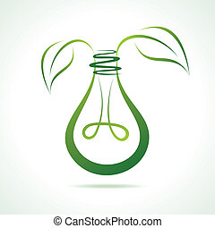 Abstract eco friendly bulb stock vector