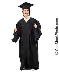 Boy In Graduation Gown - Portrait Of A Boy In Graduation...