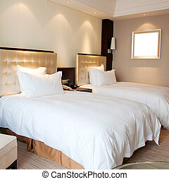 Hotel Rooms - Luxury hotel rooms, clean and bright.