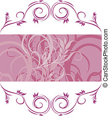Violet ornamental frame. Vector illustration