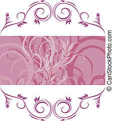 Violet ornamental frame. Vector illustration