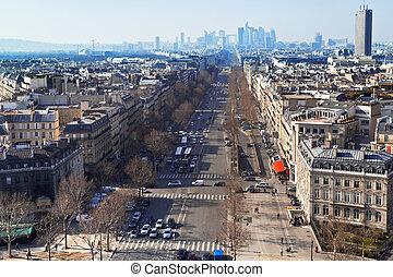 Avenue de la Grande Armee in Paris - PARIS, FRANCE - MARCH...